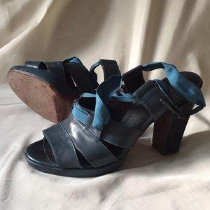 Dries Van Noten teal blue sandals 39.5 or 9